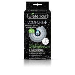 Bielenda Comfort Skarpety Antyperpirant z aktywnym węglem i glinką białą 20 ml