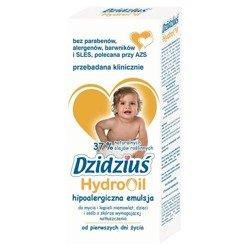 Dzidziuś HydroOil Emulsja do mycia i kąpieli niemowląt 300 ml