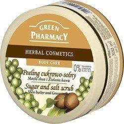 Green P.Peeling cukrowo-solny Masło Shea i Zielona kawa 300ml