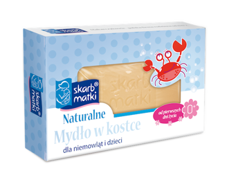 Skarb Matki Naturalne mydło w kostce dla niemowląt i dzieci 100g