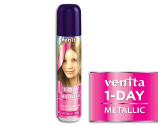 Venita 1-Day Color Metallic Pink 50 ml