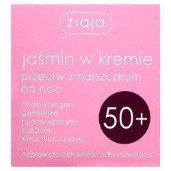 Ziaja Jaśmin Krem 50+ przeciwzmarszczkowy na noc 50 ml